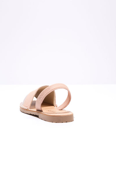 Luella - Metallic Detail Leather Menorcan sandals