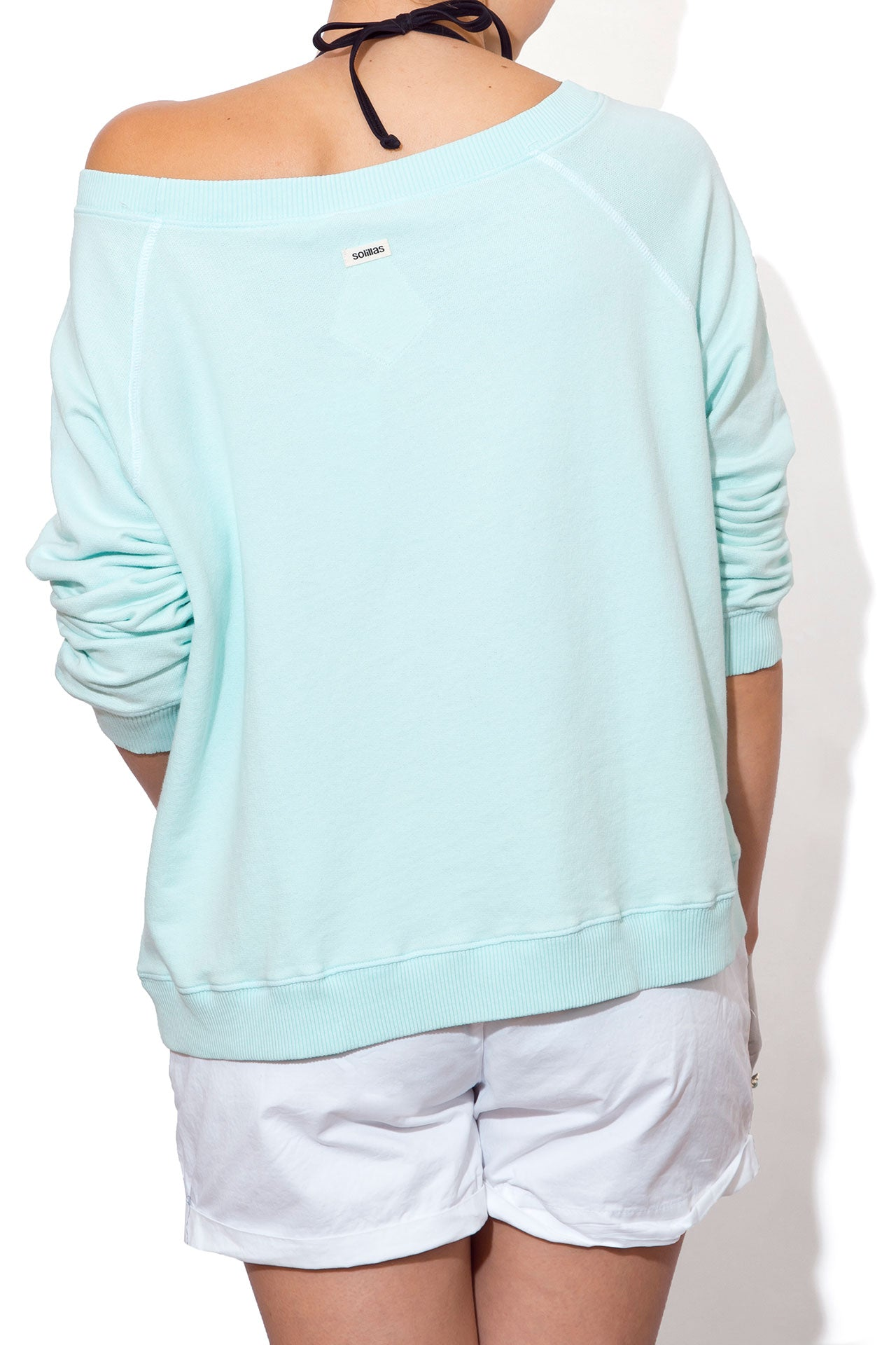 d657a50d4e Women's Bagged Oversized Sweatshirt | Beach Boho Aqua Blue ...