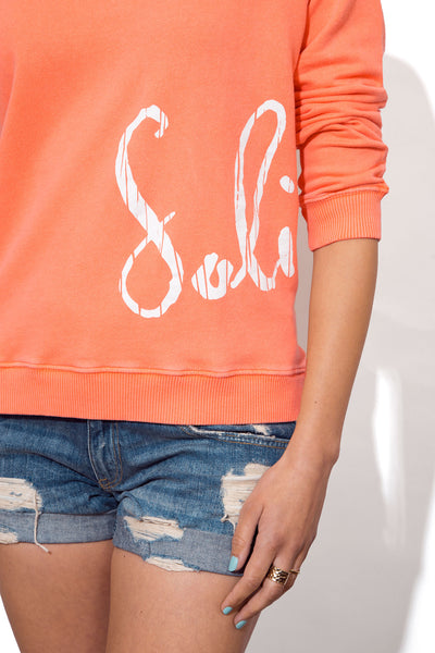 Women's Slouchy Beach Sweatshirt - Scribble Logo