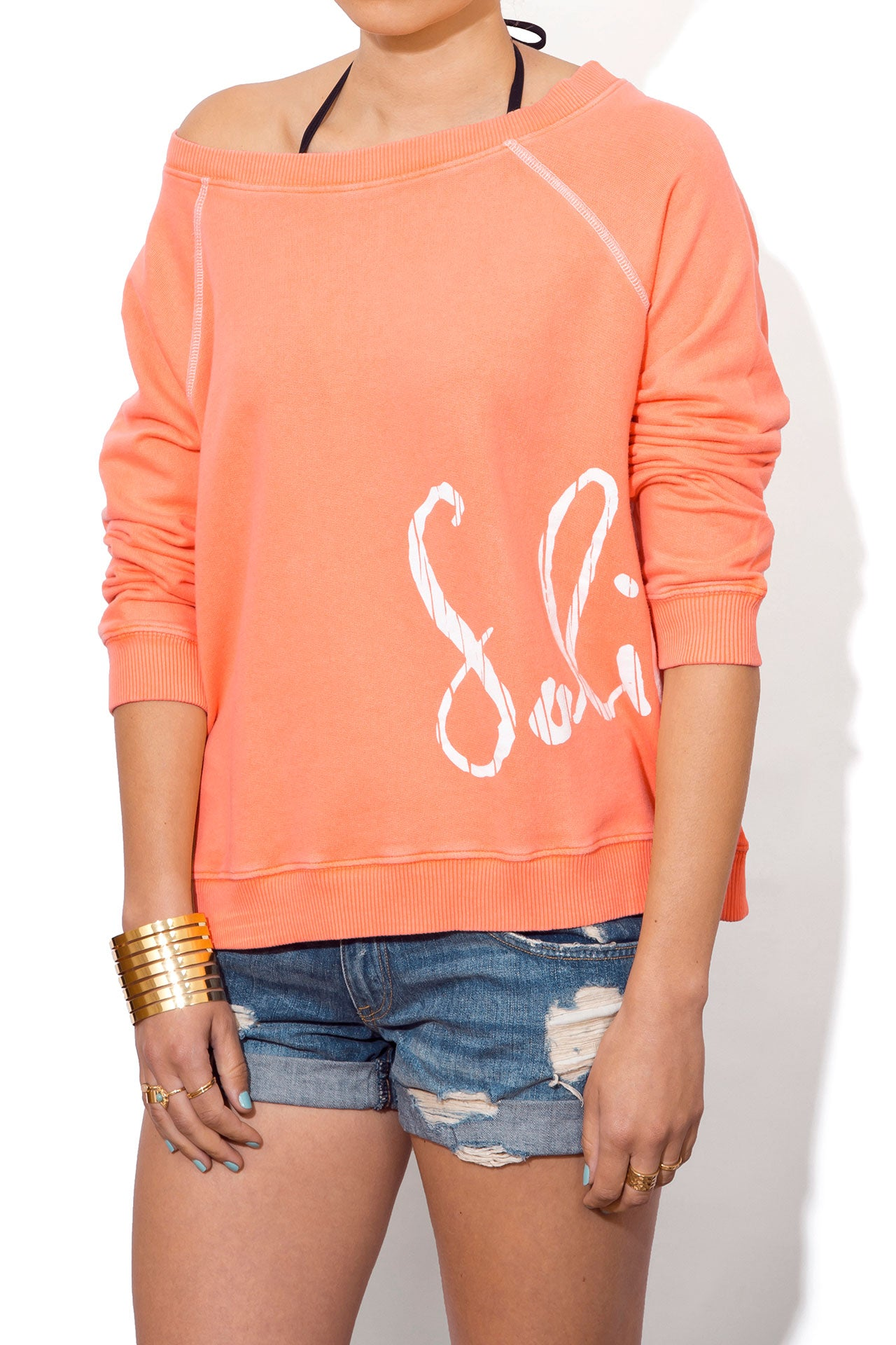 ea86da9d30 Women's Baggy, Oversized Sweatshirt | Beach Boho Coral | Solillas ...