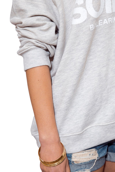 Women's Slouchy Sweatshirt - Grey Logo