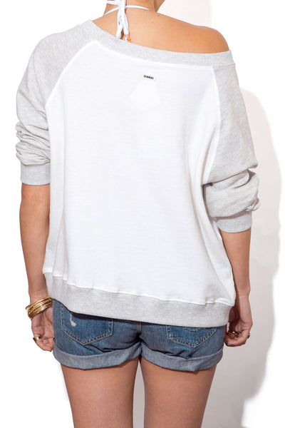 Women's Slouchy Beach Sweatshirt - Two Tone
