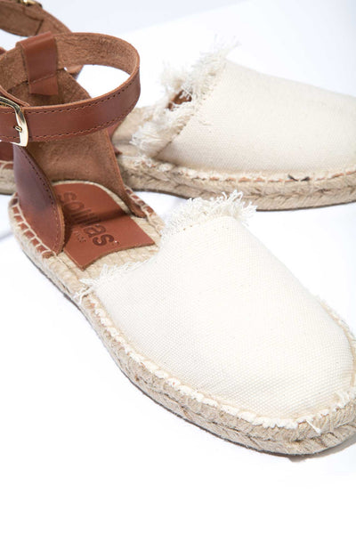 JUNO - Canvas and Leather Espadrille