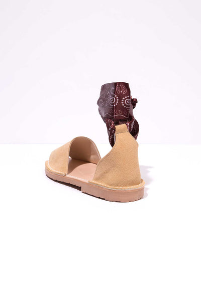 Pradera Curva - Ankle Wrap sandals
