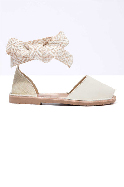 Lilia - Tribal Ankle Wrap Sandals