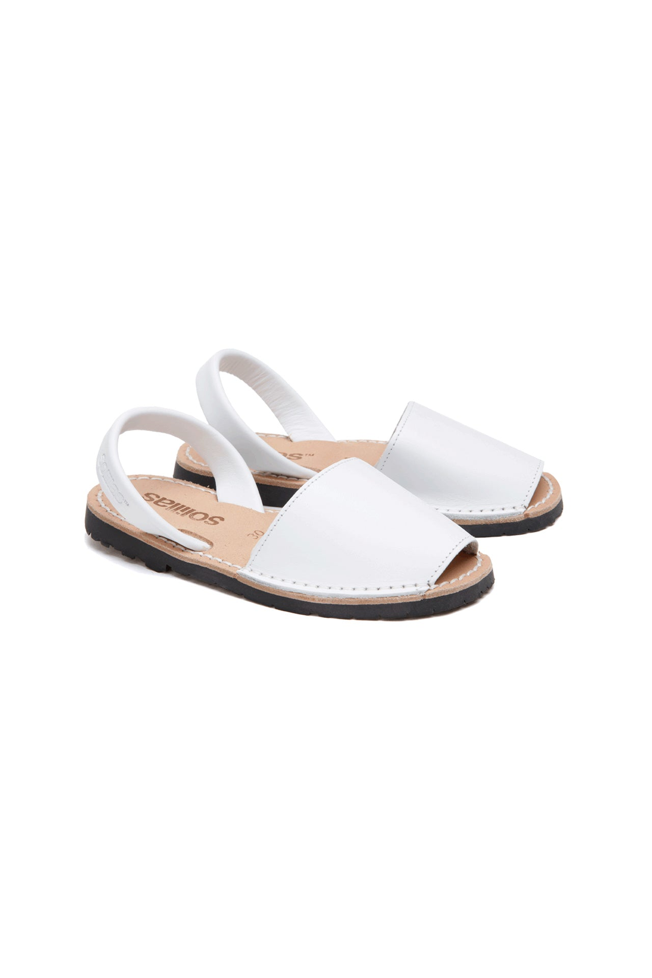 Blanco - White Leather Children's Menorcan Sandals