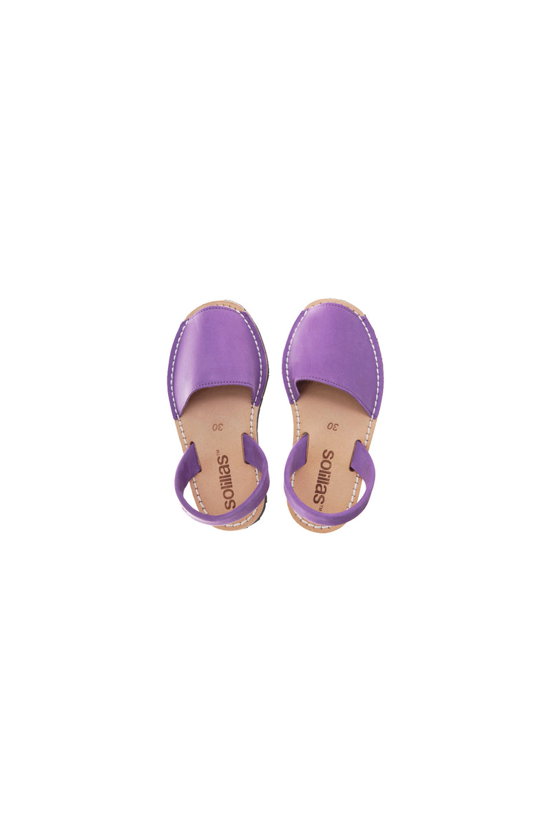 Princesa - Purple Nubuck Children's Menorcan Sandals