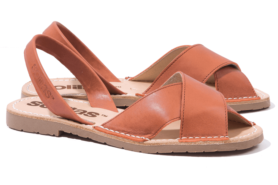 Suelo - Leather Crossover Menorcan Sandals