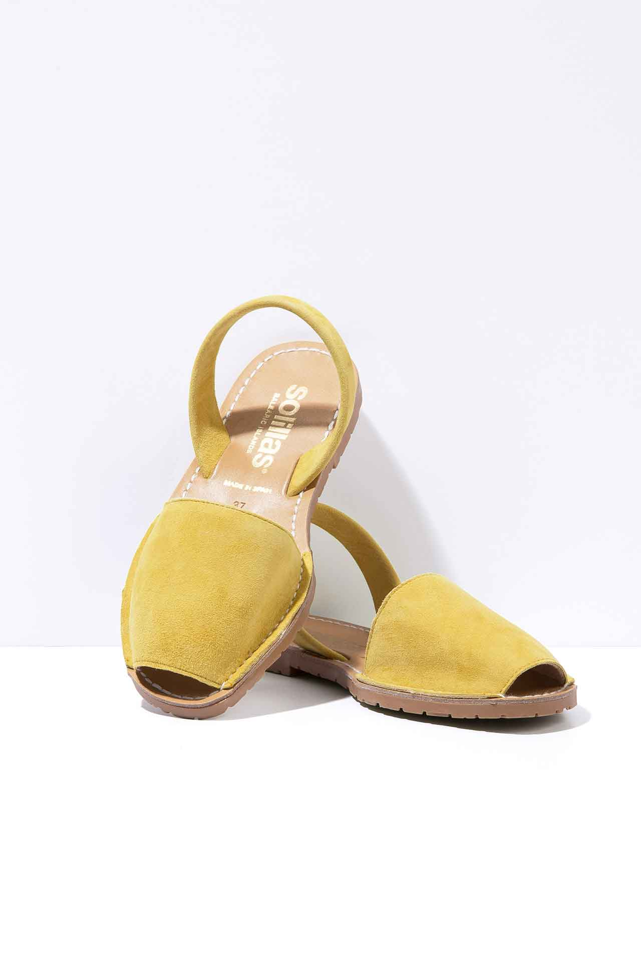 AMARILLO - Yellow Suede Menorcan sandals