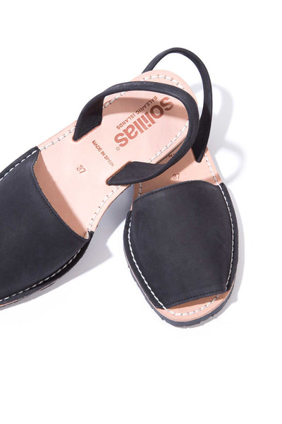 Noche - Nubuck Leather Menorcan sandals