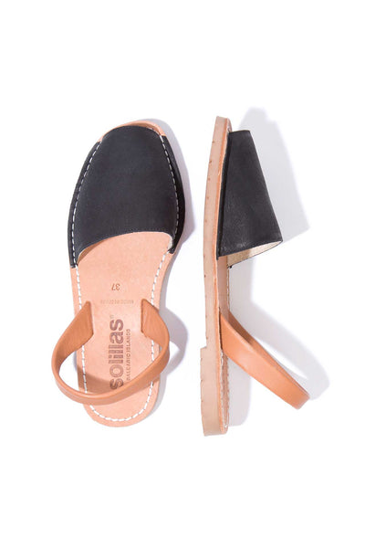 Carme - Nubuck Leather Menorcan sandals