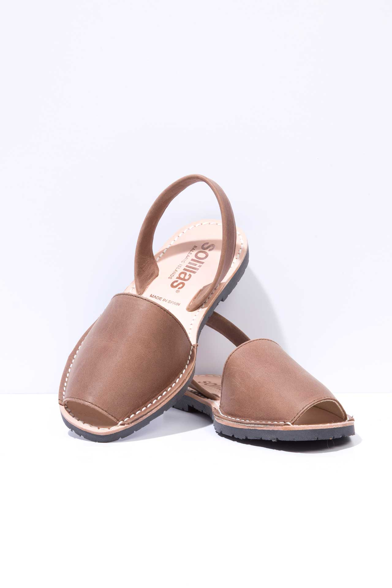 Bohemia - Distressed Leather Menorcan sandals