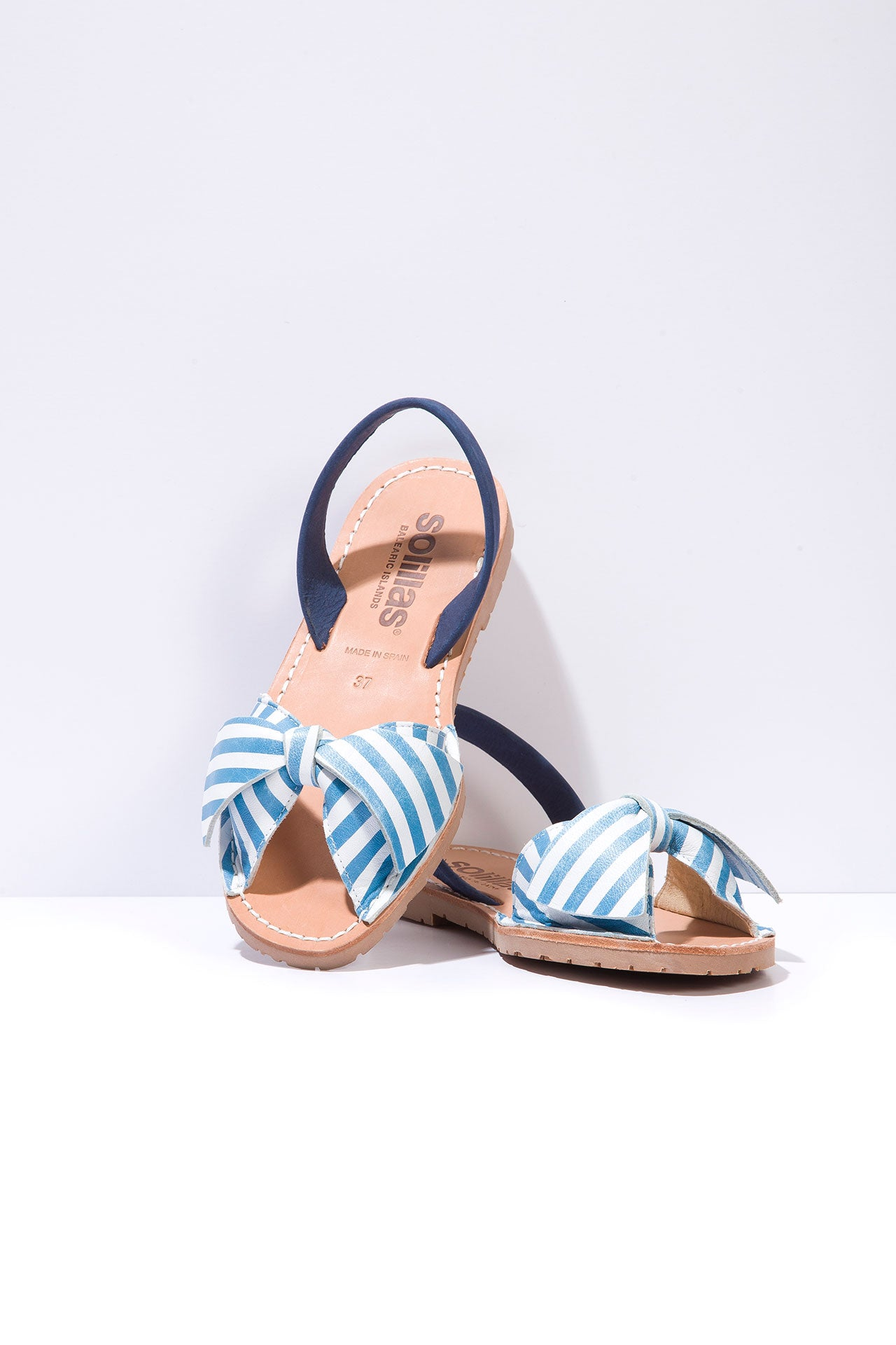 Marina Lazo - Bow Detail Suede Sandals