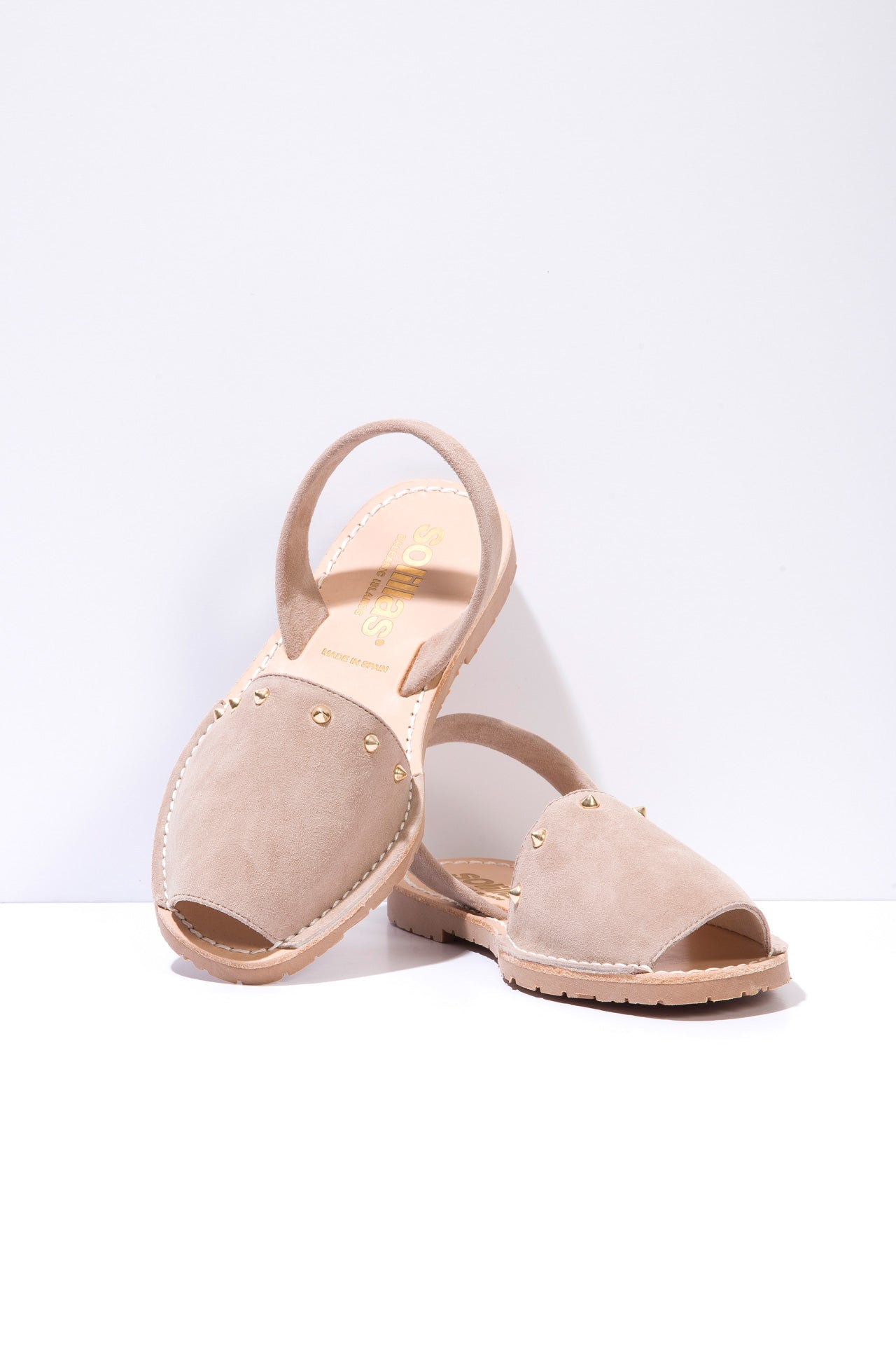 Gris Clavo - Studded Leather Menorcan sandals