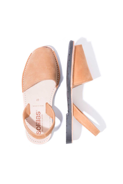 Cuero - Original Menorcan Sandals in Tan Nubuck Leather