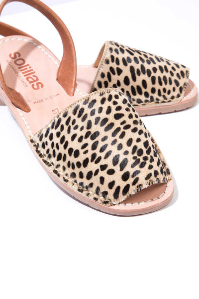 Leopardo - Fur Leather Menorcan sandals