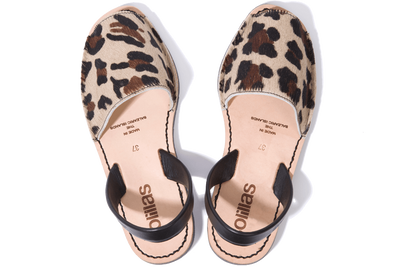 Leopardo Grande - Fur Leather Menorcan Sandals