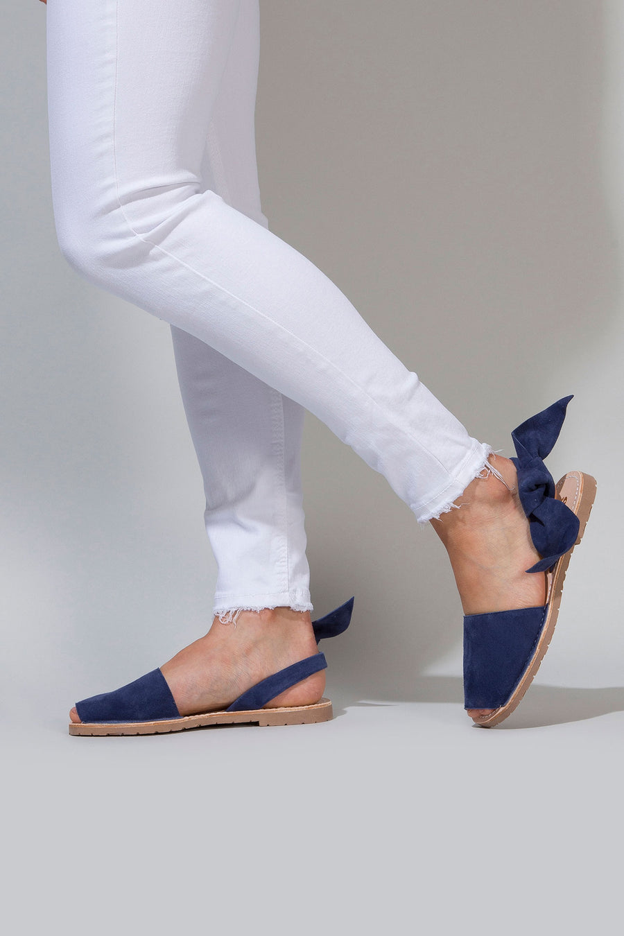 Indigo Isabel - Big Bow Menorcan sandals