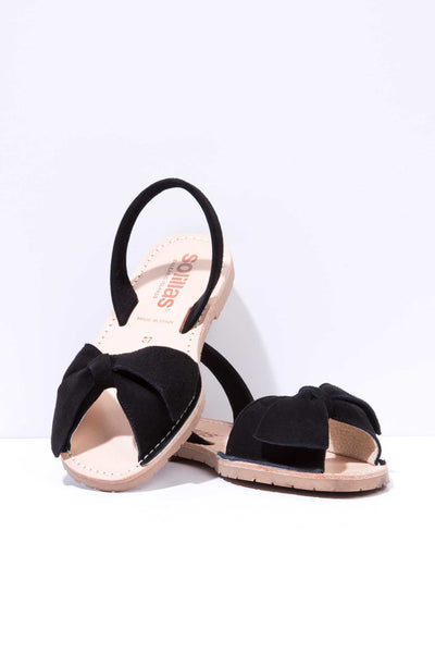Noche Lazo - Bow Detail Suede sandals