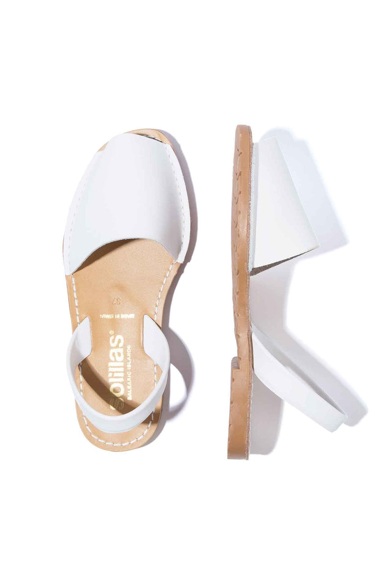 PALIDO - White Leather Menorcan sandals