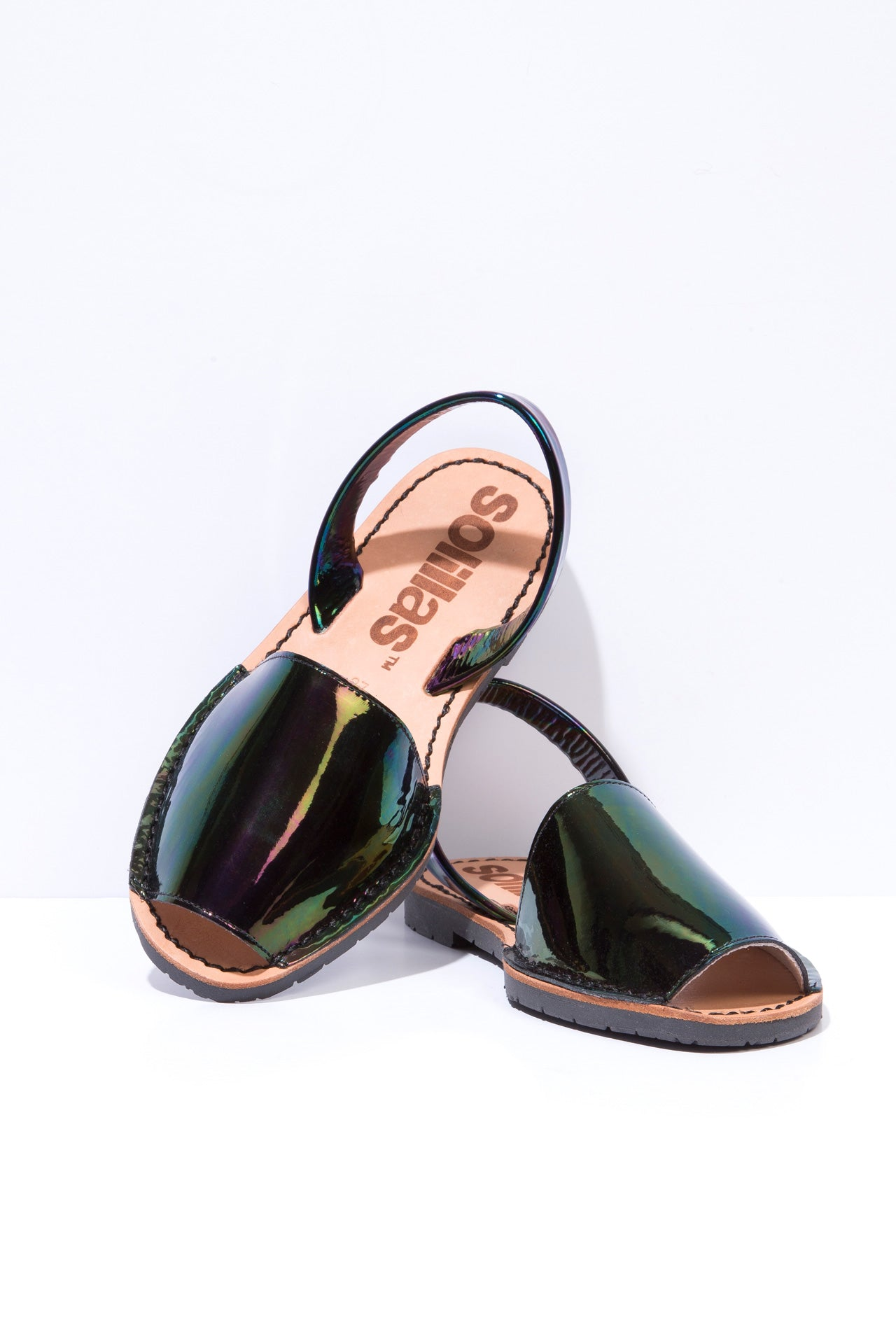 Ibiza Rocks House - Petrol Leather Menorcan sandals