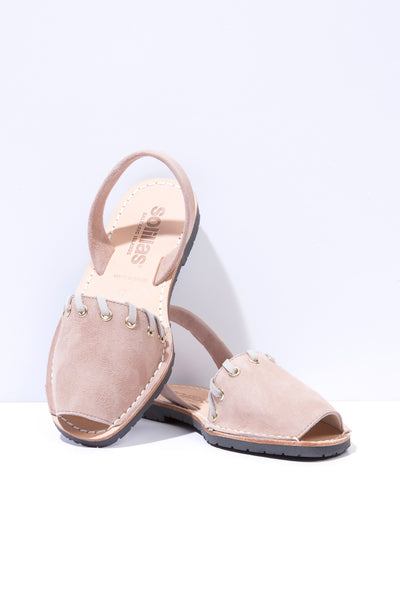 Vaquero Nude - Whipstitch Leather Menorcan sandals