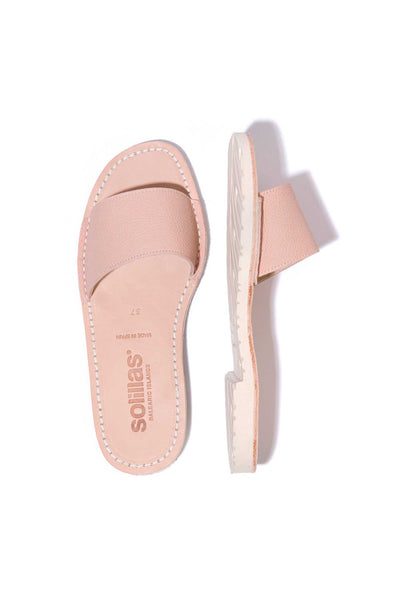 Aitana - Pink Leather Slider Menorcan sandals