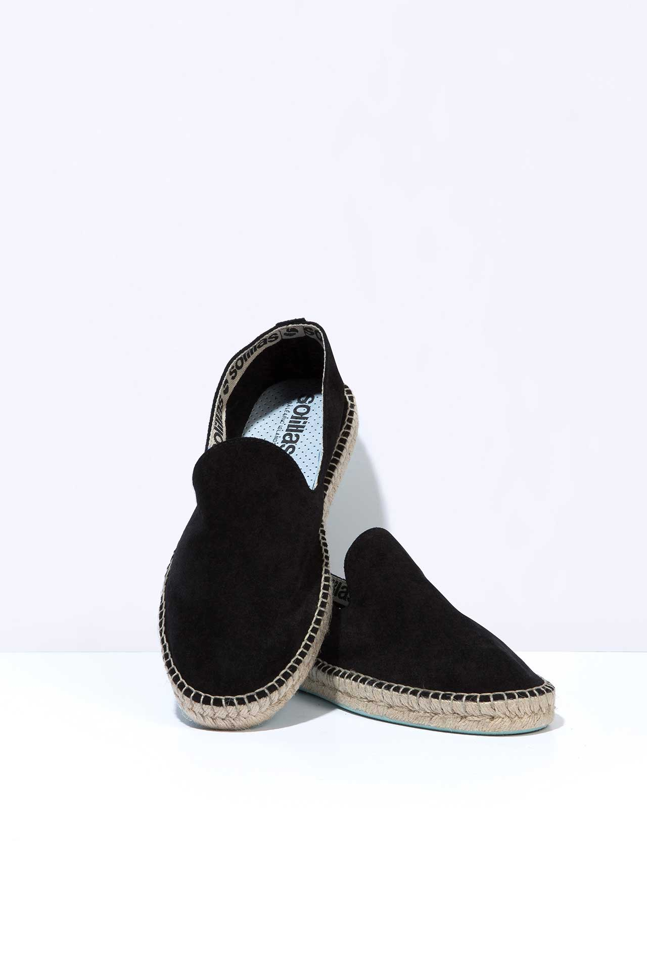 Lluis Black - Suede Leather Espadrilles