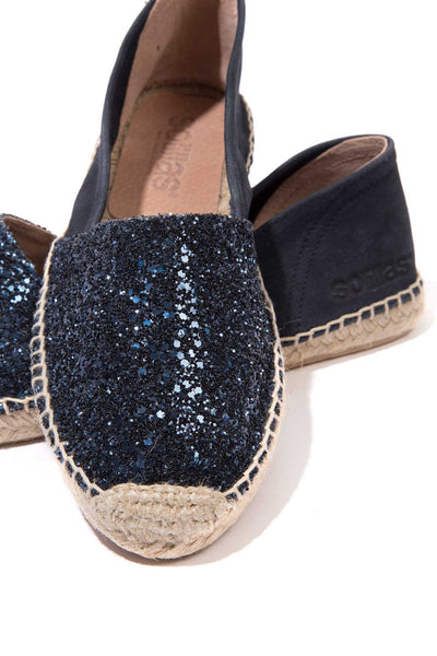 Mar - Glitter Leather Espadrilles