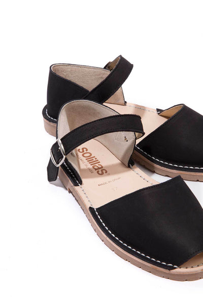 Noche - Nubuck Leather Buckle sandals