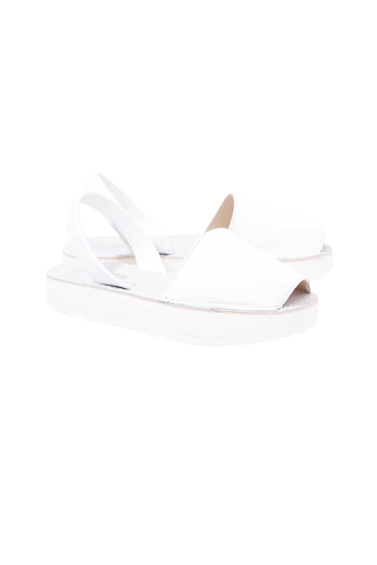 Menorcan Sandals   White Leather