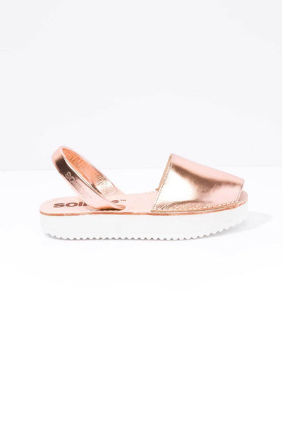 Cobre - Leather Flatform sandals
