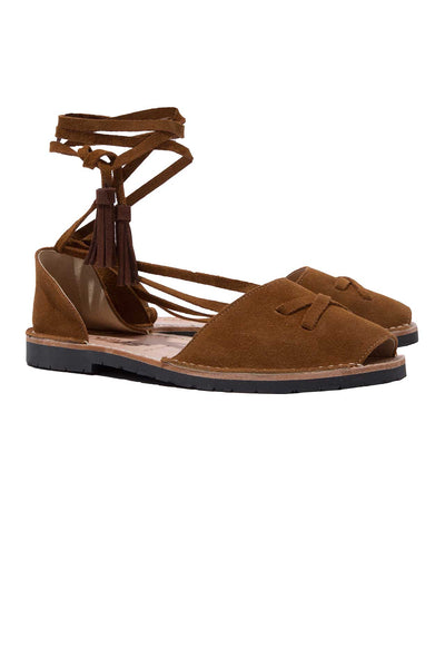 Cruz - Tan Suede Ankle Tie