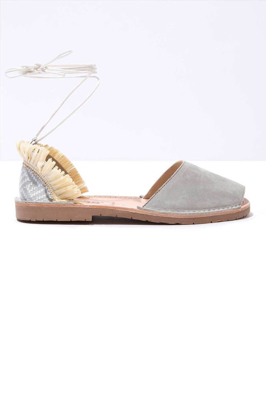Cubano - Leather Fringe Ankle Tie sandals - Outlet
