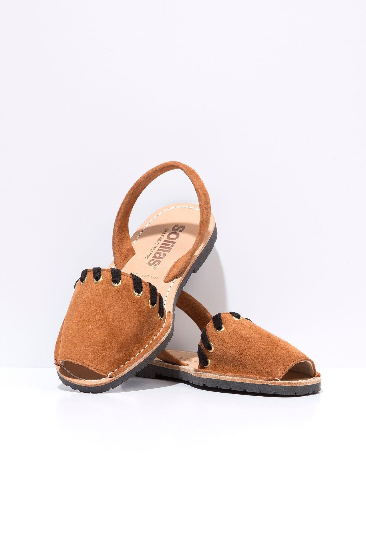 Vaquero Tan - Whipstitch Leather Menorcan sandals