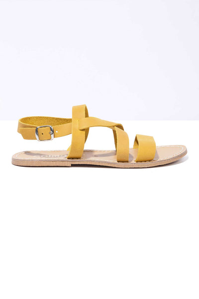 YELLOW ISLA - Leather Strappy Sandal
