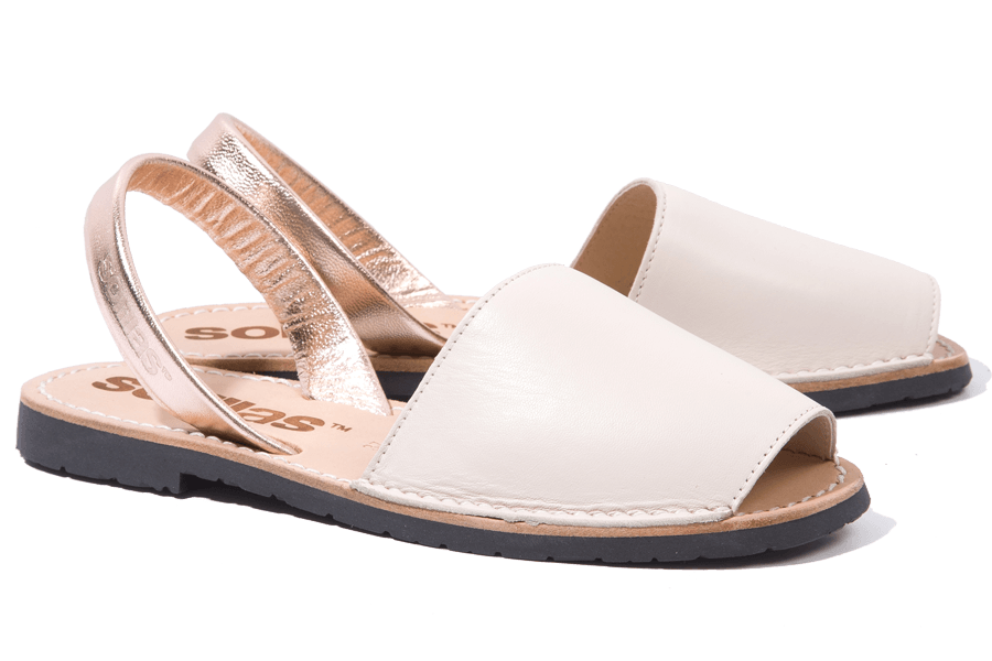 Rosa Oro - Leather Menorcan Sandals