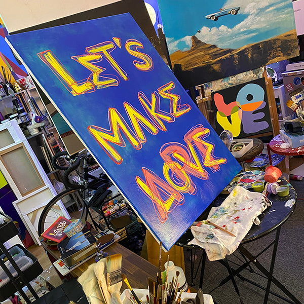 LET'S MAKE ART(LOVE) ORIGINAL PAINTING