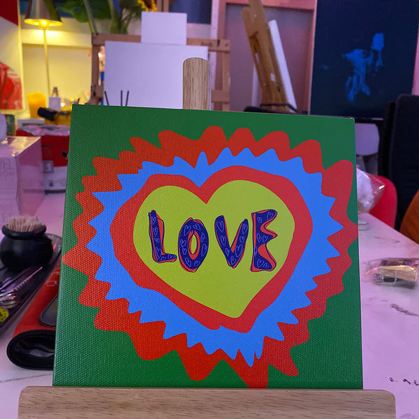 'LOVE' PRINT CANVAS LIMITED EDITION OF 15