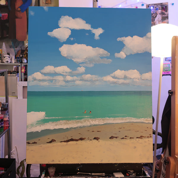 BEACH LOVE ORIGINAL ACRYLIC PAINTING