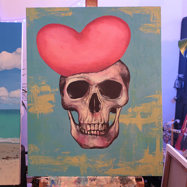NO LOVE NO LIFE ORIGINAL ACRYLIC PAINTING