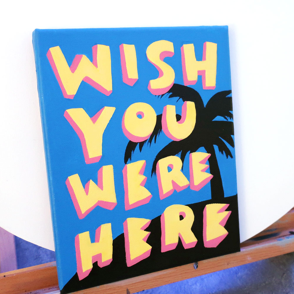 WISH YOU WERE HERE ARTWORK