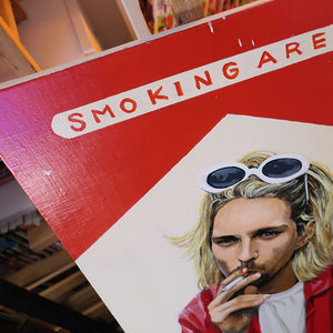 SMOKING AREA (KURT COBAIN) ORIGINAL ACRYLIC PAINTING