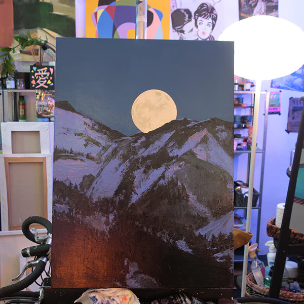 'WOLF MOON' ORIGINAL PAINTING