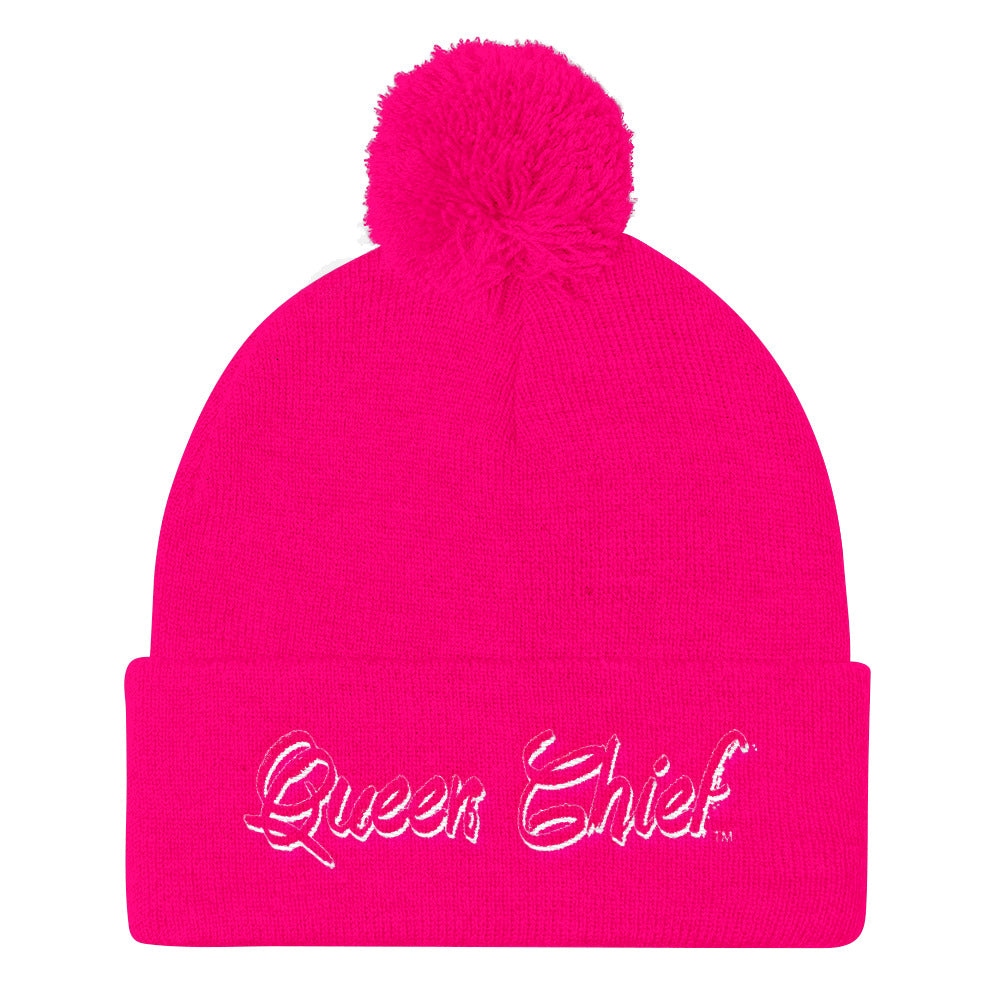 Queen Chief™ Pom Pom Knit Cap