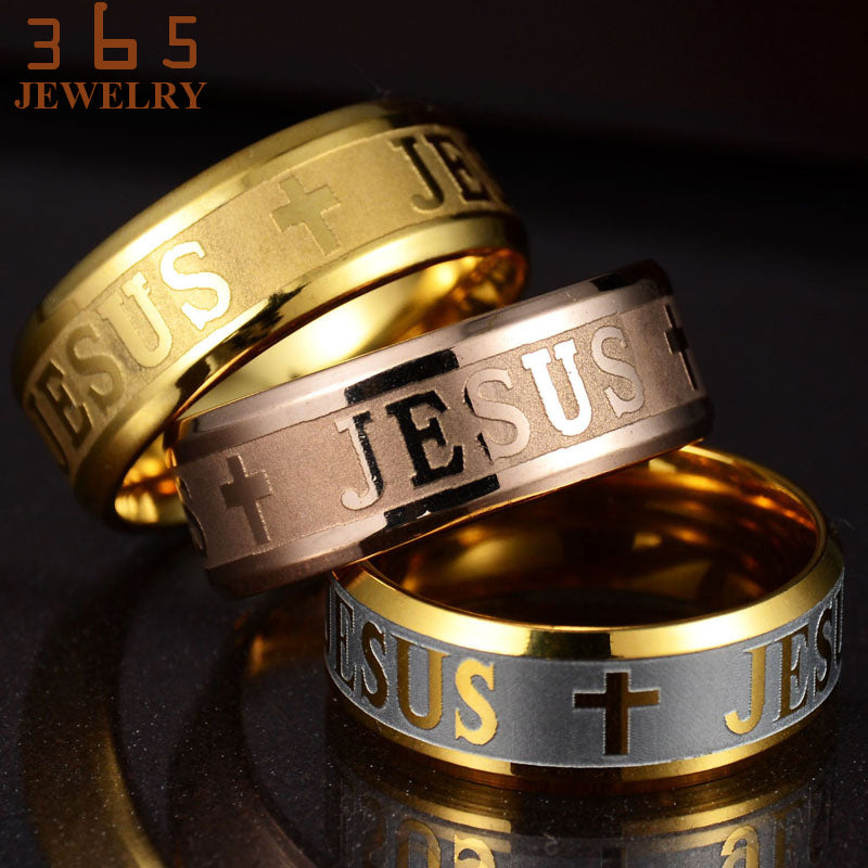 Jesus Christ Cross Rings