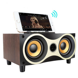 Portable Wooden Wireless Speaker