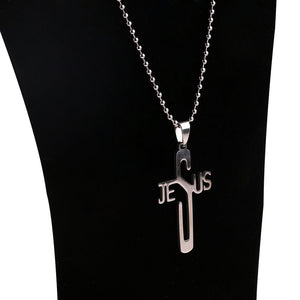 Stainless Steel Jesus Cross Necklace