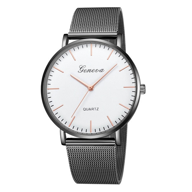 Modern Fashion Mesh Stainless Steel Wristwatch