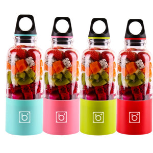 500ml 4 Blade Portable USB Rechargeable Automatic Juicer